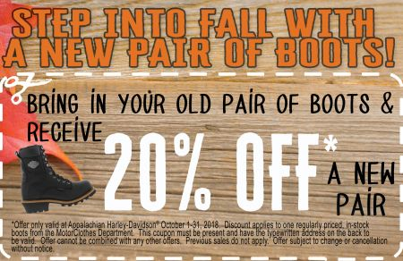 Step into Fall with a new pair of boots!