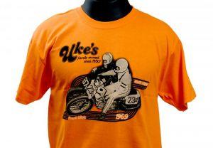 Uke's Harley-Davidson Racing Orange T-Shirt Medium - 2X-Large
