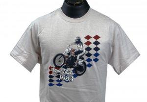 Uke's Harley-Davidson #73 Race T-Shirt Gray Medium - 2XL