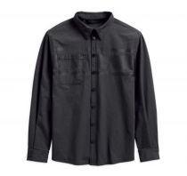 MENS DOUBLE WEAVE STRETCH SLIM FIT SHIRT