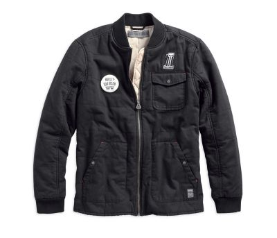 Men's Quilted Canvas Slim Fit Jacket