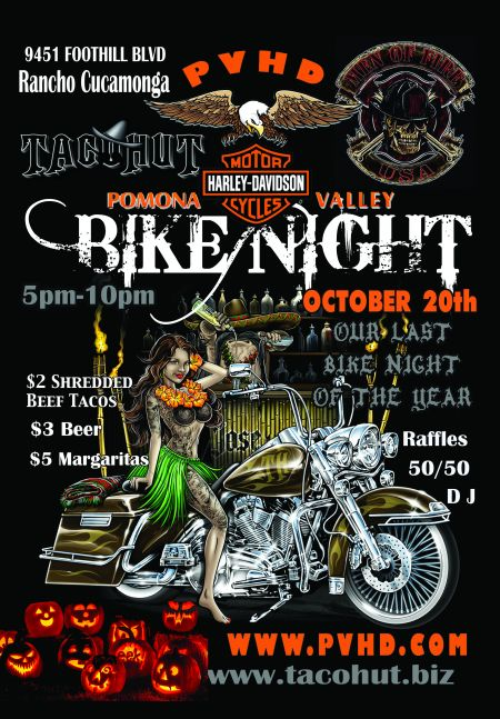 PVHD x TACO HUT - BIKE NIGHT  (at TACO HUT, lil Rancho)