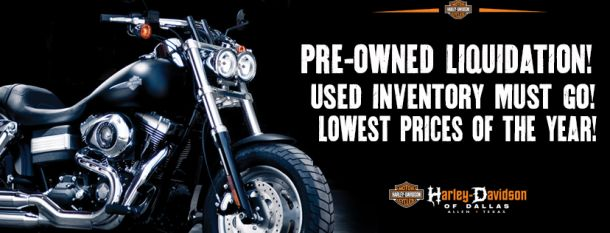 PRE-OWNED USED HARLEY-DAVIDSON® LIQUIDATION in ALLEN TEXAS