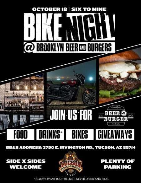 Bike Night at Brooklyn, Beer & Burgers