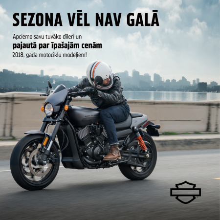 2018. gada motociklu izpārdošana