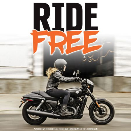 Ride It Free At Sunshine Coast Harley®