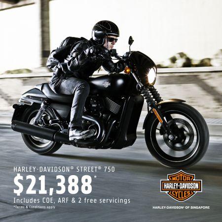 Street® 750 @ $21,388 incl. COE!