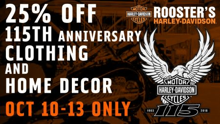 25% OFF 115th ANNIVERSARY CLOTHING AND HOME DECOR