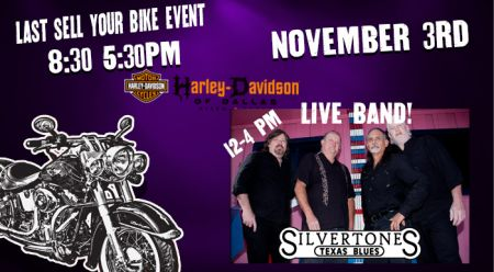 LIVE BAND!  Last Sell your bike event of the YEAR!