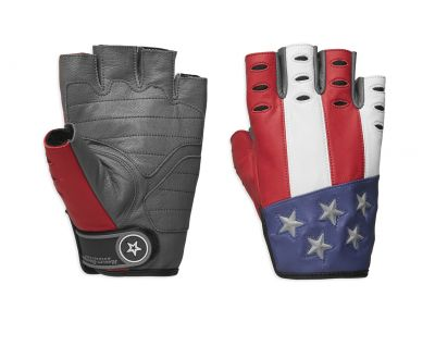 GLOVES-F/L,PATRIOT,LTHR,RED