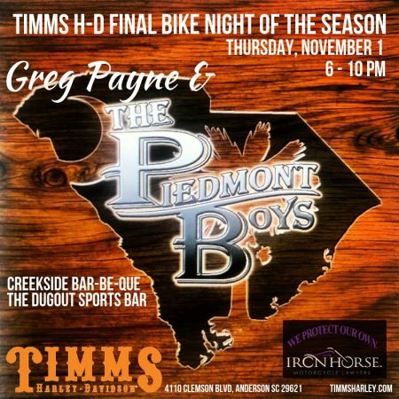 Timms H-D Final Bike Night of the Season!