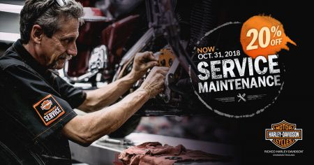 20% OFF Parts and Accessories until Oct 31, 2018