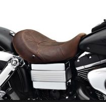 Low Profile Solo Seat - Distressed Brown Leather