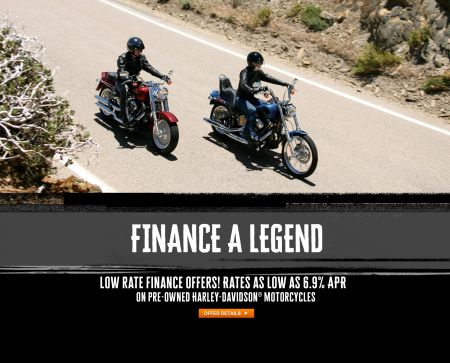 Low Rate Finance Offers from 6.9% on Approved USED Harley-Davidson® Motorcycles.