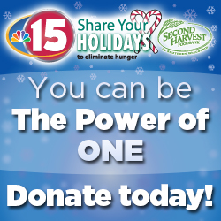 NBC15 Share Your Holidays to eliminate hunger campaign