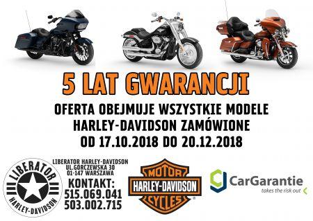 Nowe motocykle z 5-letnią gwarancją