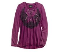 Majica  Flowered Winged Skull Henley