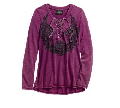 Majica  Flowered Winged Skull Henley
