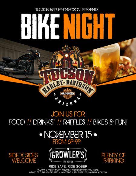 Bike Night at Growler's Taphouse