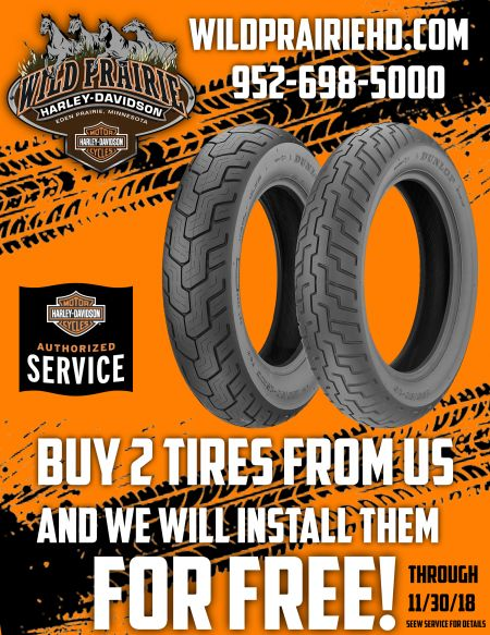 Buy 2 tires and we will install them for free!