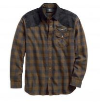 Denim Accent Plaid Shirt (96539-19VM)