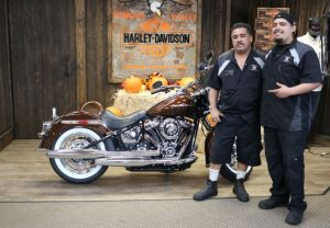 Michael and Alfonzos new 2019 Softail Deluxe in Rawhide!