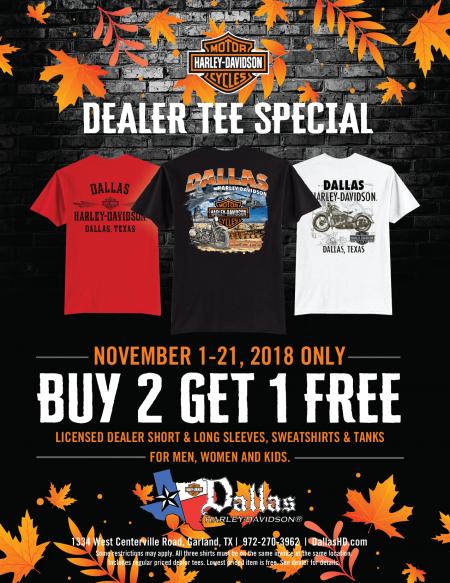 November Dealer Tee Special