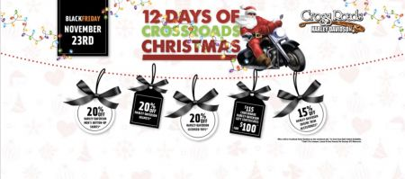 CrossRoads H-D's 12 Days of Christmas starts with Black Friday