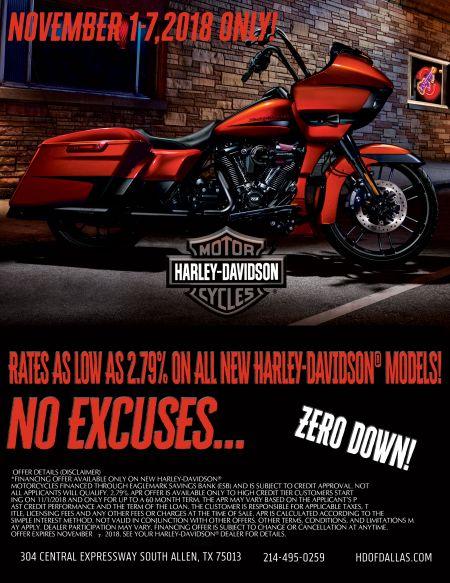 2.79% Intrest Rate on Select New Harley-Davidson® Models!