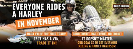 Everyone Rides A Harley