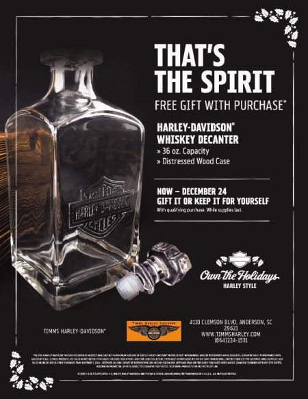 Holiday Gift With Purchase Timms Harley Davidson