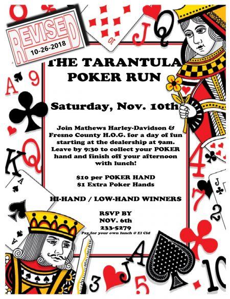 Tarantula Poker Run