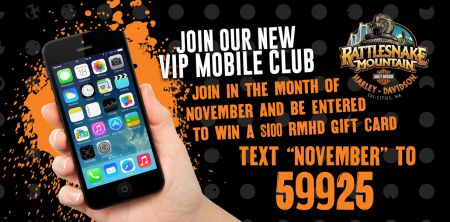 Join Our Text Club in November and Be Entered to Win a $100 RMHD Gift Card