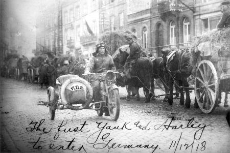 The First Yank and Harley to Enter Germany