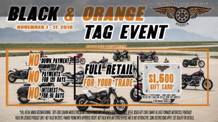 Black & Orange Tag Event