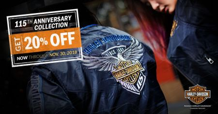 20% OFF 115th Anniversary Collection, November 5 - 30, 2018