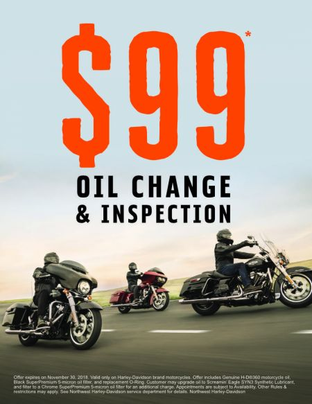 $99 Oil Change & Inspection