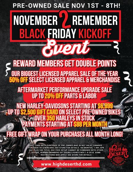 November 2 Remember Black Friday Kickoff