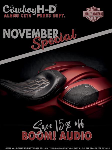 Parts Specials for November