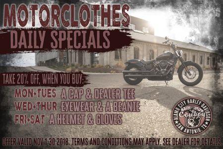 Motorclothes November Combo Specials