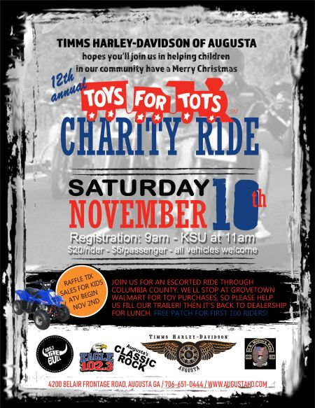 Toys for Tots Charity Ride