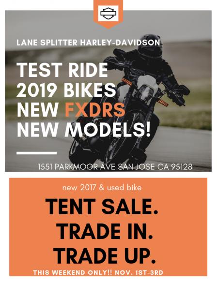 Used bike tent sale!