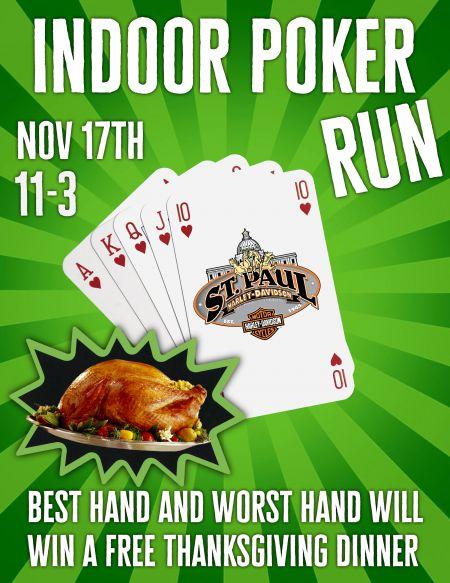 Indoor Poker Run