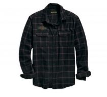 High Density Slim Fit Plaid Shirt (96563-19VM)