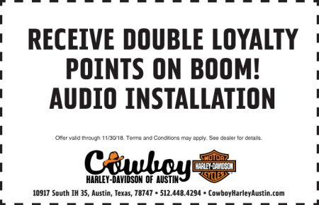 NOVEMBER SERVICE COUPON - DOUBLE LOYALTY POINTS