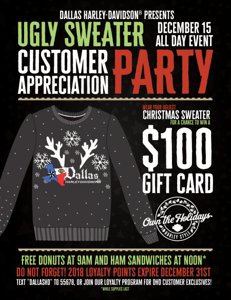 Ugly Sweater Customer Appreciation Party