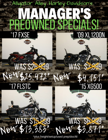Manager's Preowned Specials