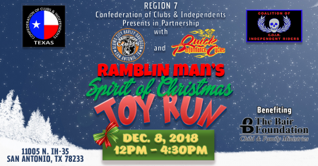 Ramblin Man's Spirit of Christmas Toy Run