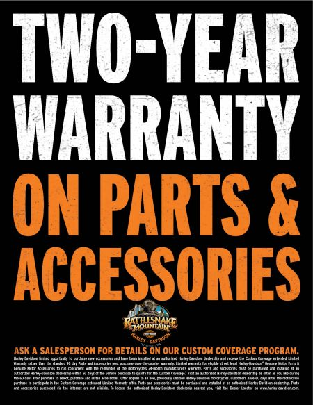 Two Year Parts and Accessories Warranty