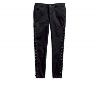 Ladies Side Laced Stretch Skinny Pant